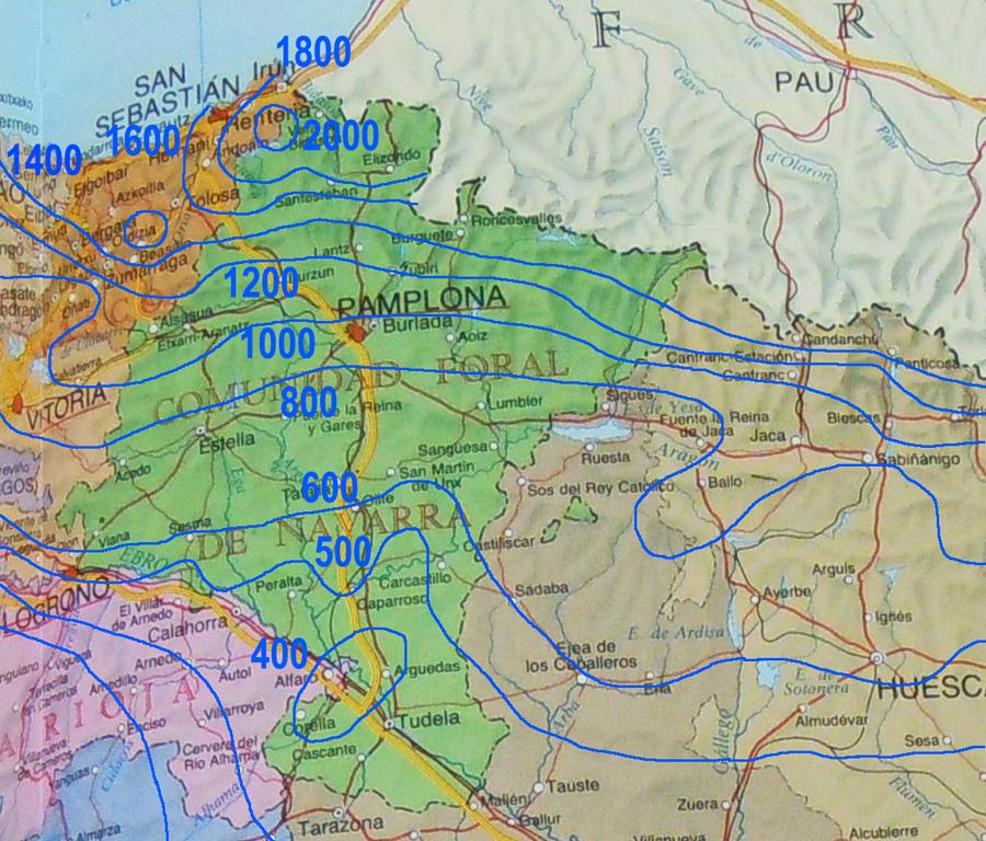 climosecuencias sobre arenisca en Pamplona
